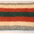 Carrot stripes zipper pouch