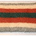 Carrot stripes zipper pouch