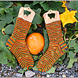 Midnight in the Pumpkin Patch Socks
