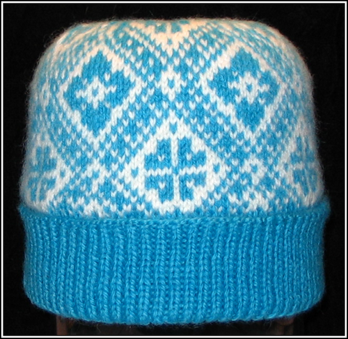 All-Over Two-Color Patterned Watch Cap